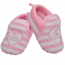 Buciki I love DAD 0-12M  buty NIECHODKI różowe