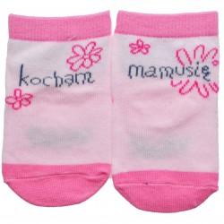 """Skarpetki bawełniane """"KOCHAM MAMUSIĘ"""" skarpety dziewczęce"""