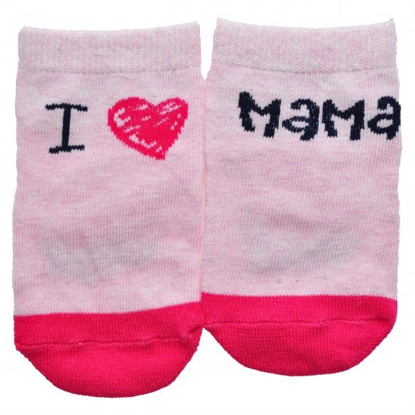 """Skarpetki bawełniane """"I LOVE MAMA""""  skarpety dziewczęce"""