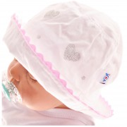 Biały kapelusz dziewczęcy czapka TOSIA czapeczka r.42-46 LATO 74 80 86