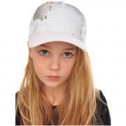 Czapka z daszkiem biała bejsbolówka MAGICZNE CEKINY rozmiary od 52cm do 55cm 4-8lat