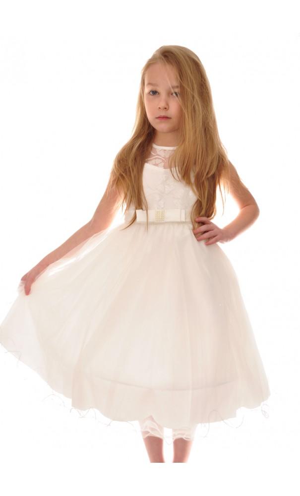 e1d2017d41 Wizytowa sukienka z tiulem rozmiary od 86 do 152 suknia Druhna Ślub ...