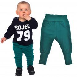 Butelkowe spodnie chłopięce rozmiary od 56 do 146 wiosna jesień