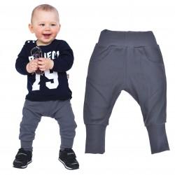 Grafitowe spodnie chłopięce rozmiary od 80 do 146 wiosna jesień