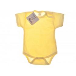 Żółte body krótki rękaw r.56-110