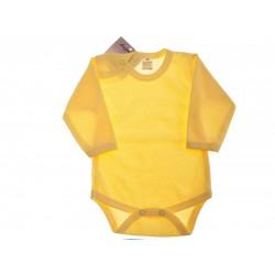 Żółte BODY z długim rękawem rozmiary od 56 do 110