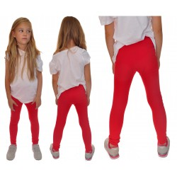 Czerwone LEGGINSY GETRY rozmiary od 98 do 158