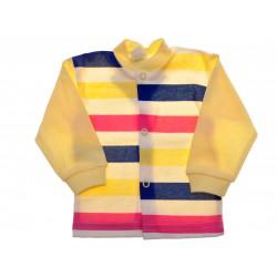 Żółty KAFTANIK w pasy, koszulka bawełniana wzór 302K