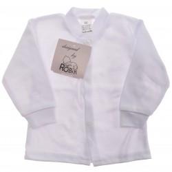 Biały KAFTANIK koszulka bawełniana CHRZEST