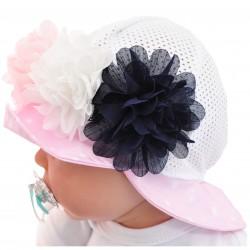 KAPELUSZ 3 KWIATY czapka przeciw poceniu LATO rozmiary od 40cm do 52cm