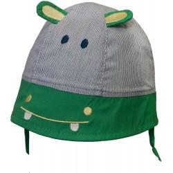 KAPELUSZ HIPPO z zielonym Z USZKAMI  CZAPKA LATO