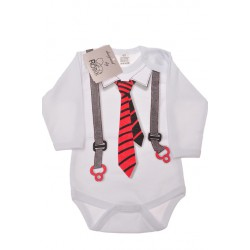 BODY chłopięce z krawatem długi rękaw r.56 -110 wzór 525