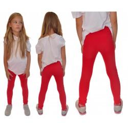 Czerwone LEGGINSY z kokardkami GETRY rozmiary od 80 do 134