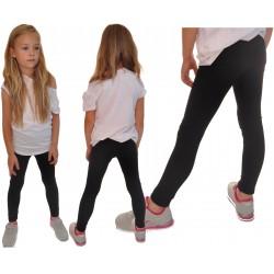 Czarne LEGGINSY z kokardkami GETRY rozmiary od 80 do 134