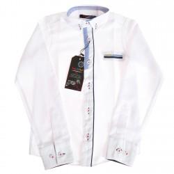 Biała koszula chłopięca z długim rękawem r.110-164 elegancka białe guziki