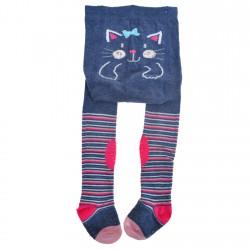 RAJSTOPY do RACZKOWANIA jeans z kotkiem POTRÓJNY ABS! wzór 812