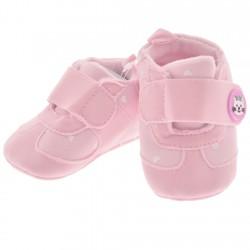 Adidaski w serca NIECHODKI 0-12M BUCIKI na rzep różowe