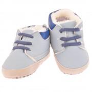 Eleganckie buty ocieplane NIECHODKI na futerku 0-12M BUCIKI jasno niebieskie