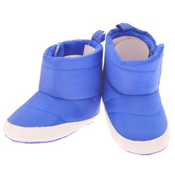 Śniegowce KOSMONAUTA buty ocieplane NIECHODKI 0-12M BUCIKI niebieskie