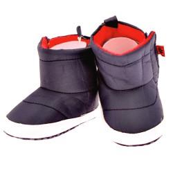 Śniegowce KOSMONAUTA buty ocieplane NIECHODKI 0-12M BUCIKI granatowe