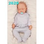 ŚPIOCHY ŚPIOSZKI bawełniane, szare w paski wzór 262S