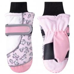 Nieprzemakalne rękawiczki Jednorożec 14cm kolor różowy