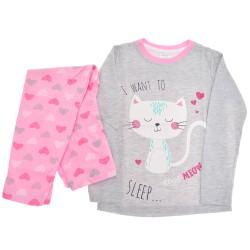 Piżama dziewczęca KOTEK piżamka długi rękaw