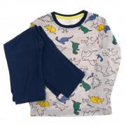 Piżama chłopięca DINOZAURY piżamka długi rękaw