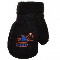 Rękawiczki chłopięce z jednym palcem KoparkaGrafit