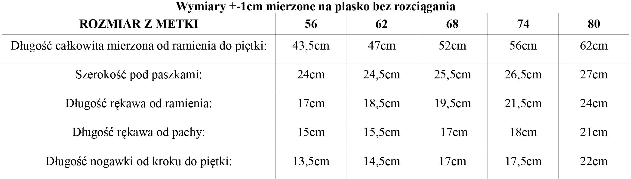 tabela_wymiarow_kombinezon_bawelniany_Robik